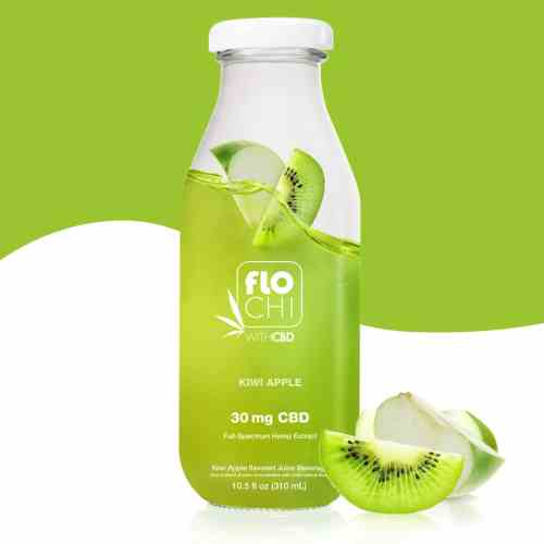 FloChi CBD Juice CBD Apple Kiwi Flavored Juice