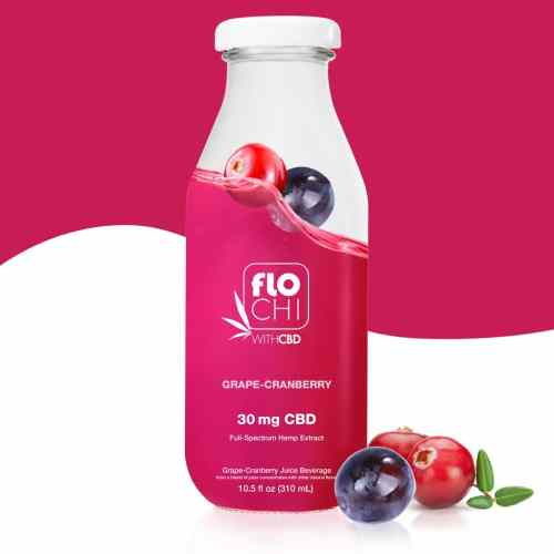 FloChi CBD Juice CBD Cranberry Grape Flavored Juice