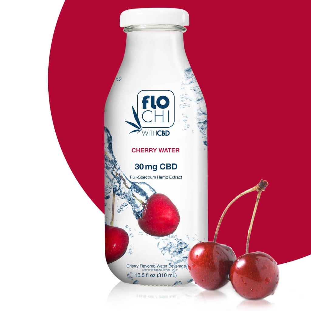 FloChi CBD Water CBD Flavored Water Cherry