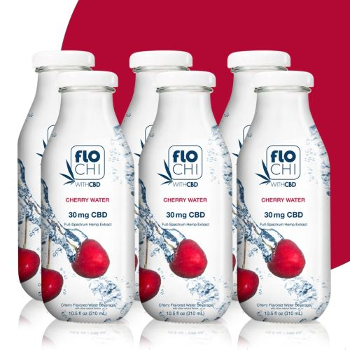 FloChi CBD Water CBD Flavored Water Cherry 6-Pack