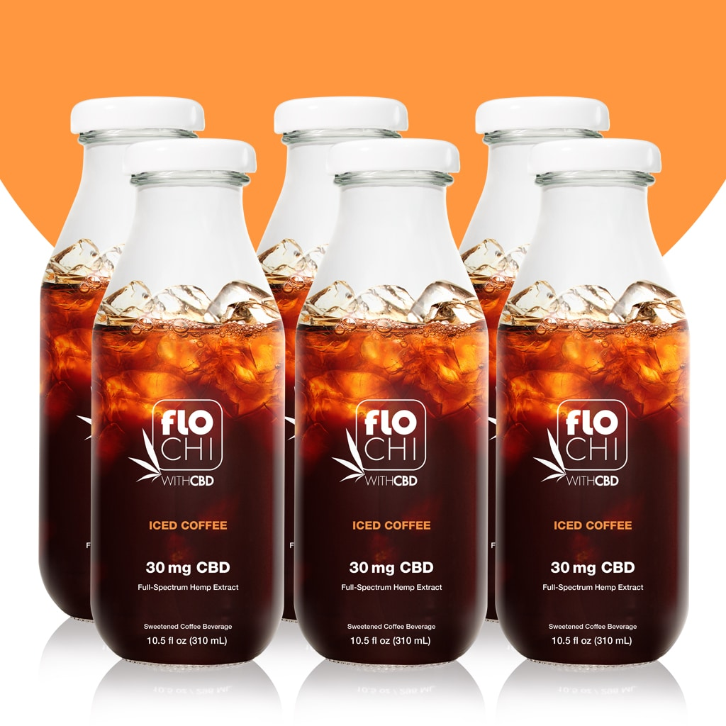 CBD Iced Coffee beverage 6-pack