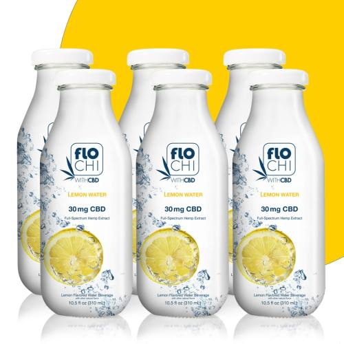 FloChi CBD Water CBD Flavored Water Lemon 6-Pack