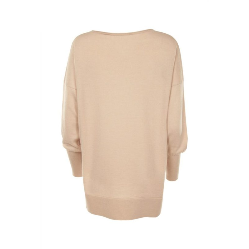 Eloise Merino Blush Pink jumper_ back