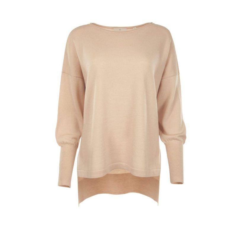 Eloise Merino Blush Pink jumper _ front