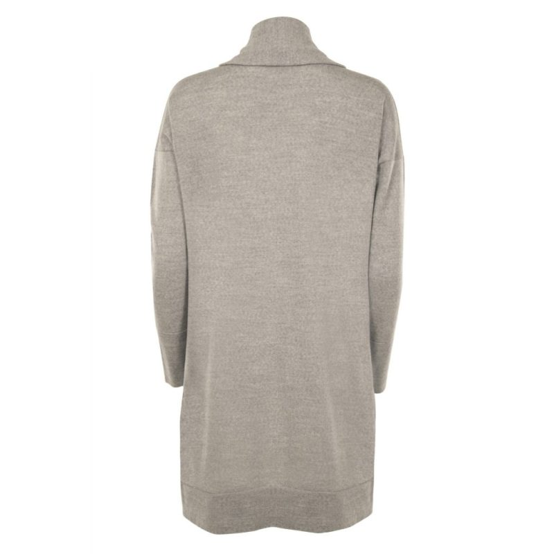 Long Grey Cardigan from Flock by nature   back