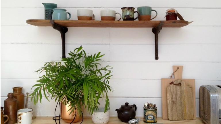 Kitchen of Nora Woodland Cabin