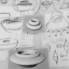 In the making/drawing for flockOmania by jewellery artist Zoe Robertson