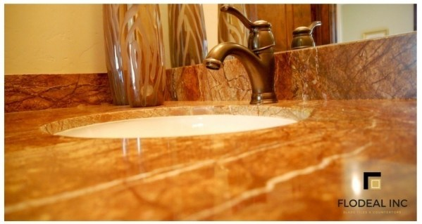 Rainforest Gold Marble Cladding