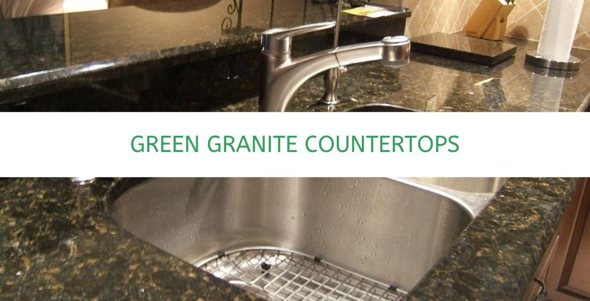 green granite countertops