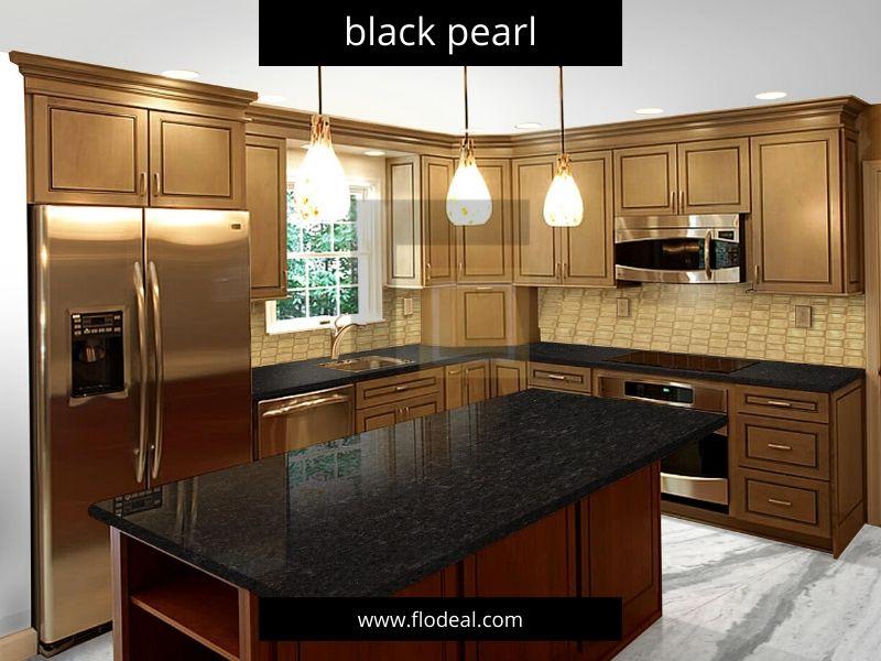 black pearl granite kitchen countertop