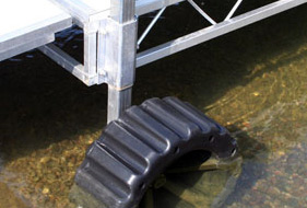 Shore end wheel accessory for docks.