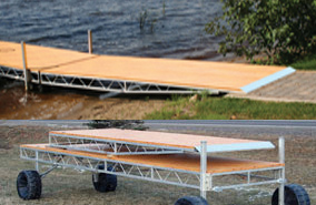 Shoreway ramp component for Roll-In docks.