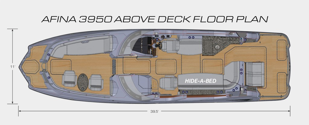 Afina Above Deck Floor Plan