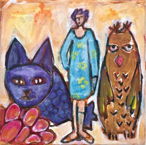 Peintures - Femme - Chimères - Animaux