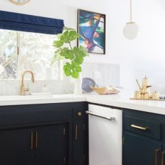 White Appliances Kitchen Farmhouse Sink For Sale The Non Issue With Floform Countertops If You Are Not A Fan Of All Kitchens Incorporating Colour Into Your Cabinetry Is Perfect Way To Make Pop And Give It Some
