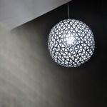透視廢物利用的精緻利樂包吊燈