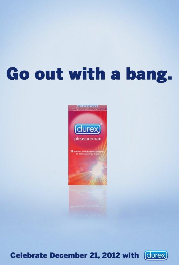 保險套品牌杜蕾斯的世界末日廣告