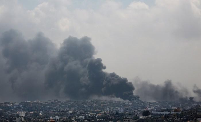 遭受攻擊後的加薩城市