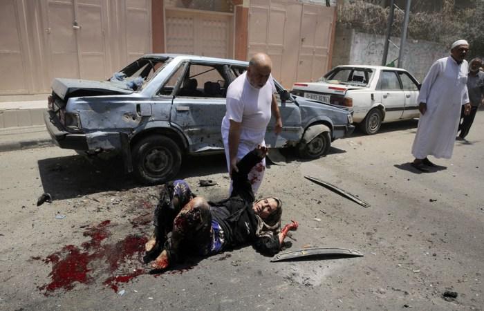 一名巴勒斯坦女士遭受攻擊