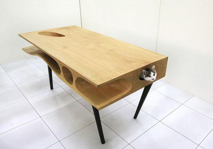 可以躲喵喵的桌子