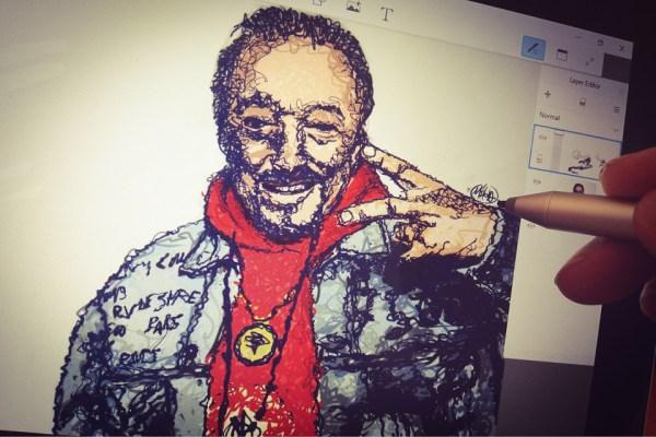 Amy maluje graffiti a zemřel Karel Gott .. #instalife