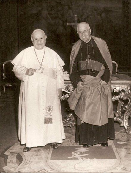Juan XXIII y Marcelino Olaechea