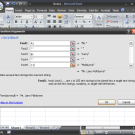excel function builder dialogue box with built concatenate function