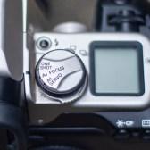 Canon focus control dial