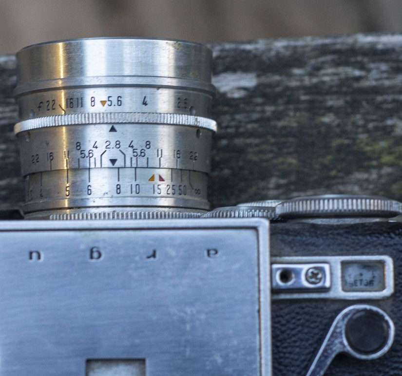 Argus C33 focal scale and frame counter