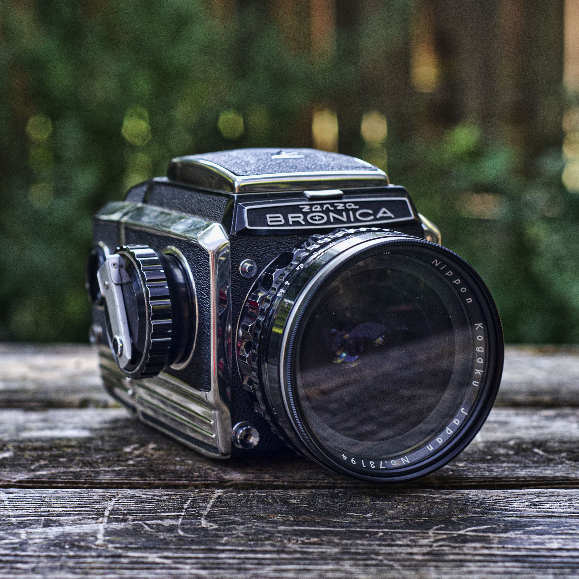 Bronica S2 with Nikkor H lens