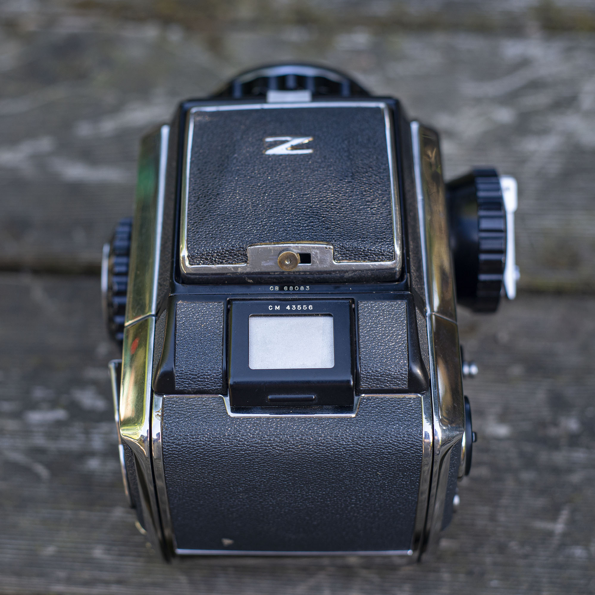 Bronica S2 rear top view