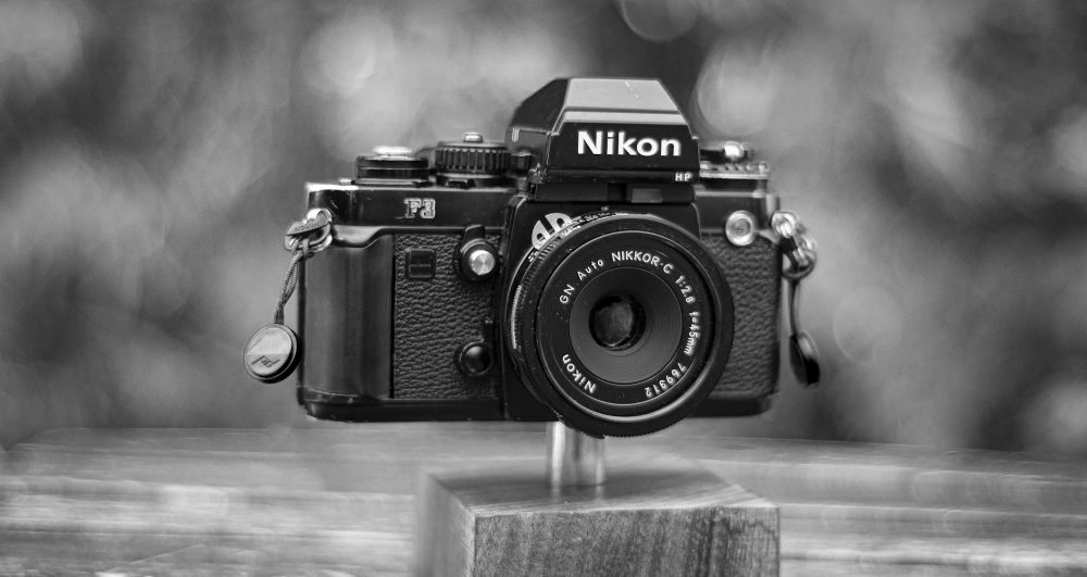 Nikon F3 with a 45mm f/2.8 lens