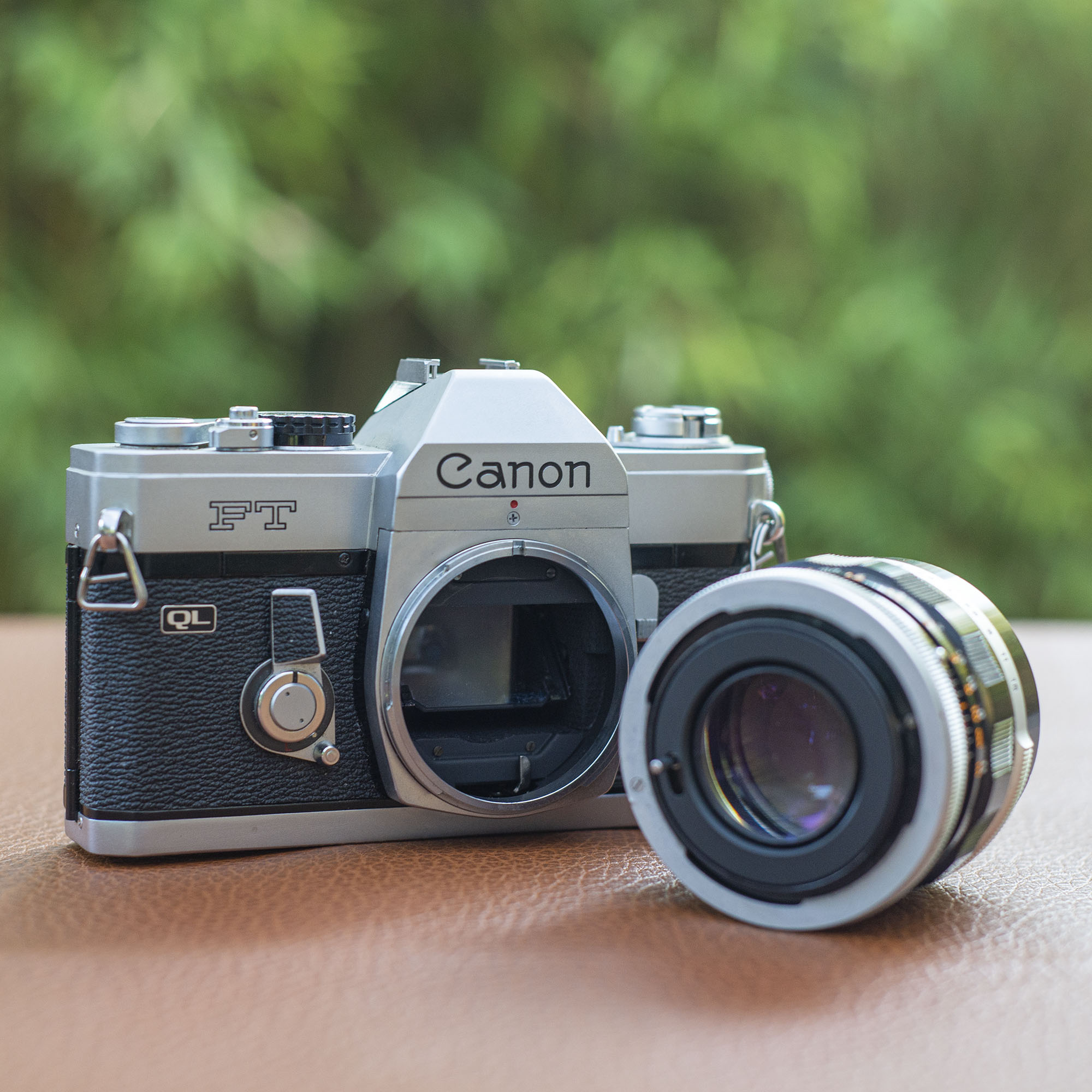 Canon FT with lens off