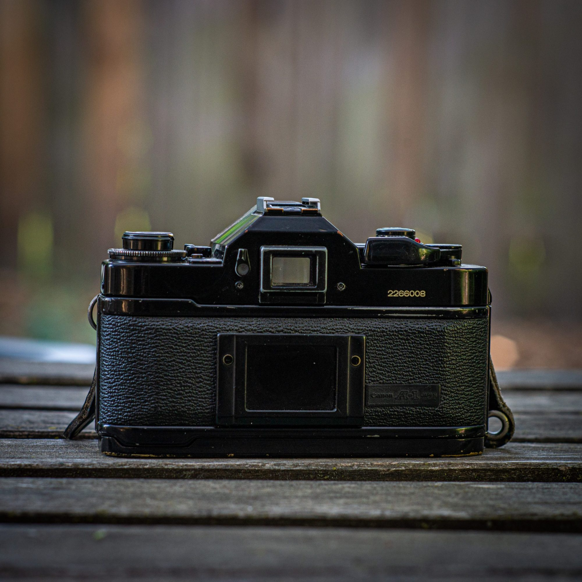 Back of Canon A-1