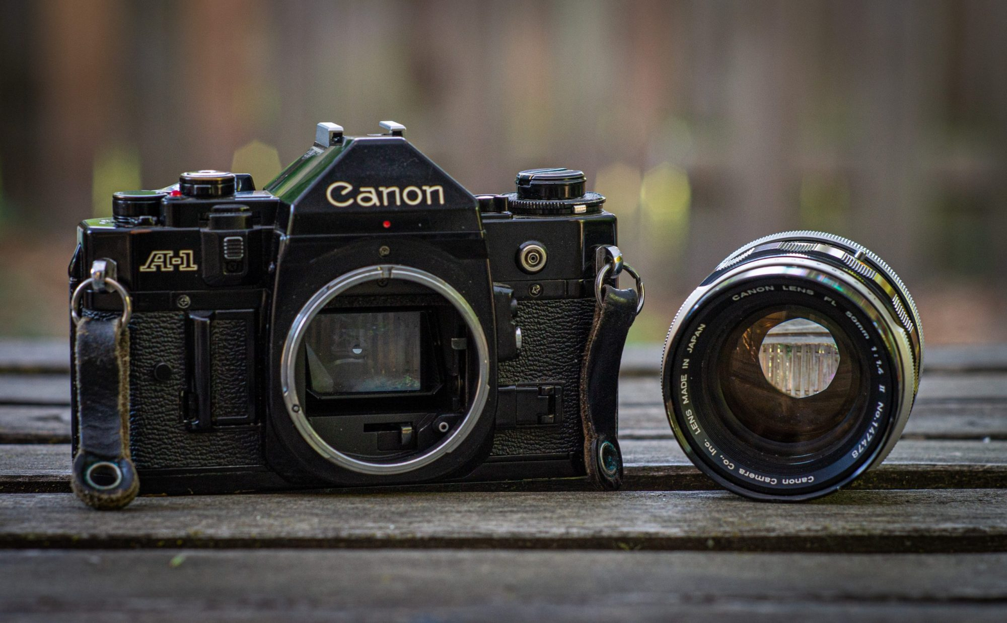 Canon with lens removed