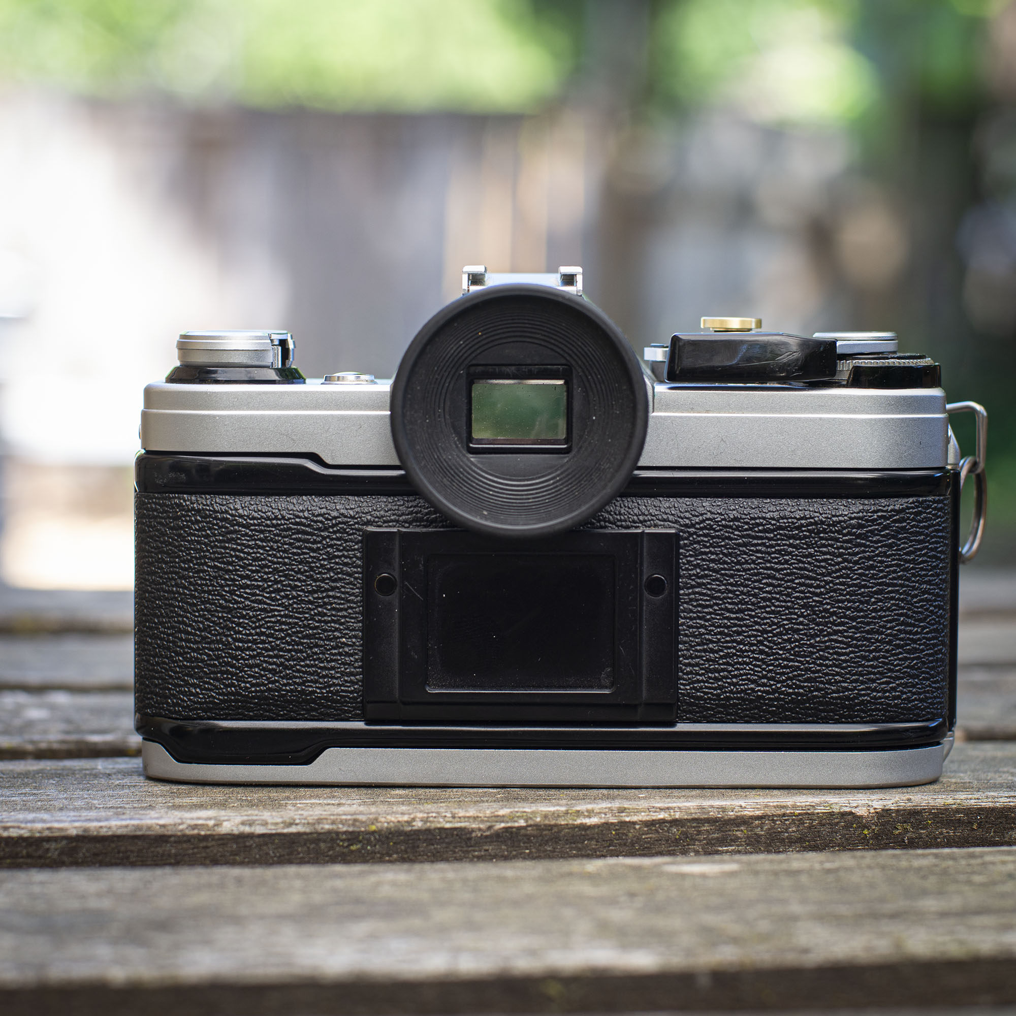 back view of the AE-1 camera