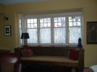Window treatments for craftsman style home? (drapes, panel