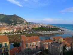 View of Ventimiglia from Old Town.