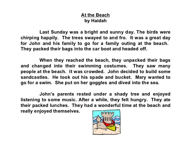 A Day At The Beach Essay For Grade 5