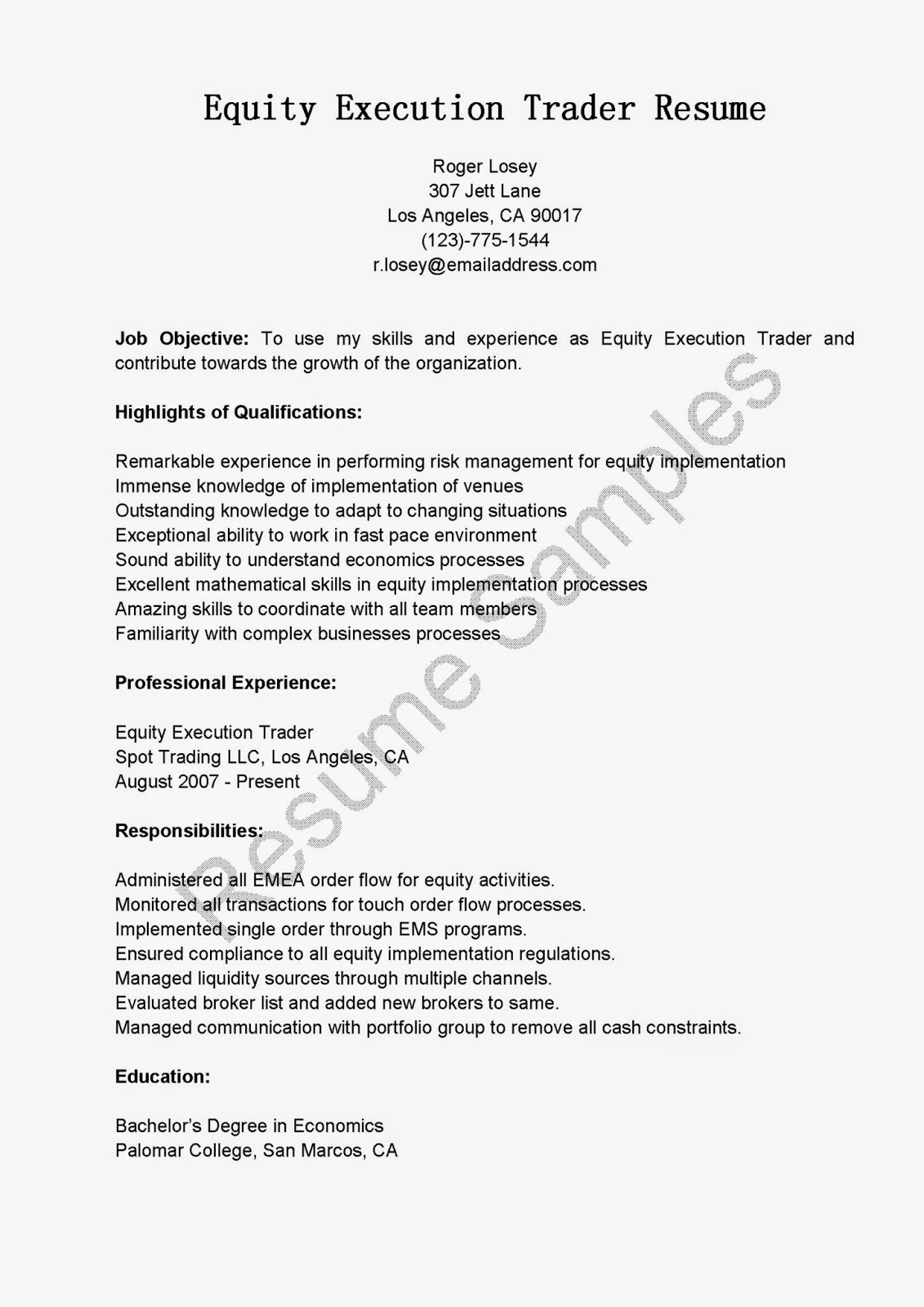 Securities Trader Cover Letter Buy Side Equity Trader Resume College Papers To Buy