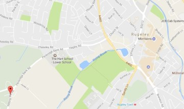 Rugeley, Slitting Mill Rd to Forge Rd on Google Maps
