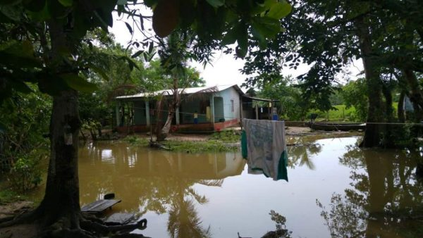 Floods in Livingston Izabal, Guatemala. Photo: Conred