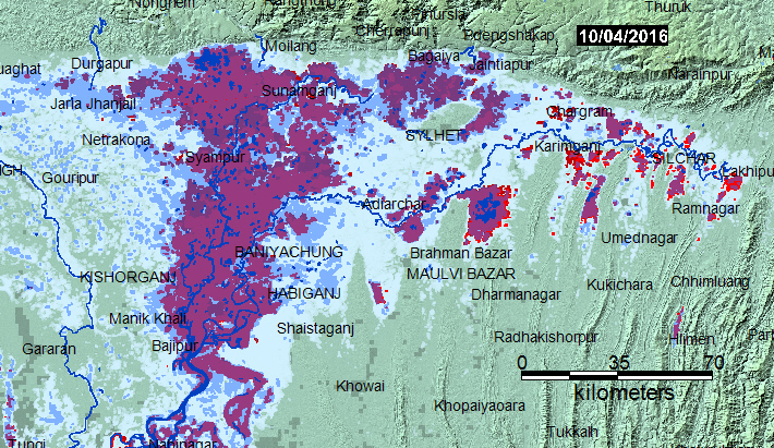Ganges/Brahmaputra MODIS NRT Current Flood Conditions
