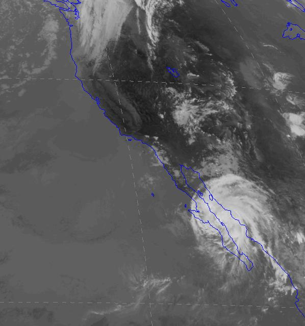 Tropical storm Julio formed off the west coast of Mexico and began to migrate north.