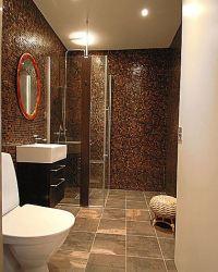 Bathroom in brown tile. Part 1 in Bathroom Tile Design ...