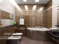 Bathroom in brown tile. Part 2 in Bathroom Tile Design ...