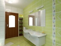 Green tile bathroom  FTD Company, San Jose, California