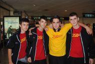Raúl, Víctor, José Antonio, Miguel Ángel vuelven de Bélgica con la selección
