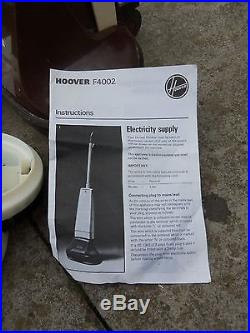 Hoover F4002 floor scrubber polisher carpet shampooer Working with NEW pads  Floor Buffer Pads