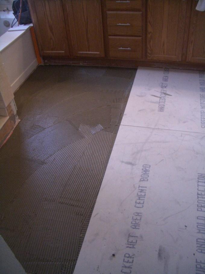 Installing Cement Backer Board For Tile Flooring Wikizie